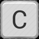 c, case, key, keyboard, upper icon