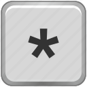 asterisk, key, keyboard, sign icon