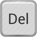 del, delete, function, key, keyboard icon
