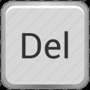 del, delete, function, key, keyboard icon
