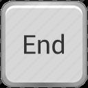 end, function, key, keyboard icon