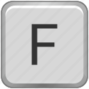 case, f, key, keyboard, letter, upper icon
