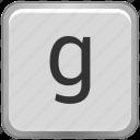 case, g, key, keyboard, letter, lower icon