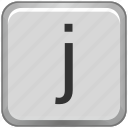 case, j, key, keyboard, letter, lower icon