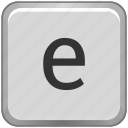 case, e, key, keyboard, letter, lower icon