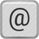 key, keyboard, label, mail, sign icon