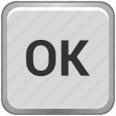 accept, complete, function, key, keyboard, ok icon