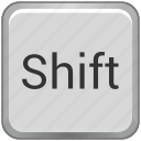 function, key, keyboard, shift icon