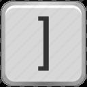 bracket, key, keyboard, right, square icon