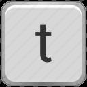 case, key, keyboard, letter, lower, t icon