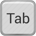 function, key, keyboard, tab icon