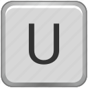 case, key, keyboard, letter, u, upper icon