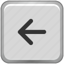 arrow, function, keyboard, left icon