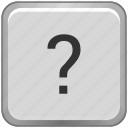 key, keyboard, label, question, sign icon