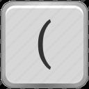 bracket, key, keyboard, math, sign icon