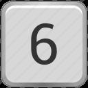 key, keyboard, number, six icon