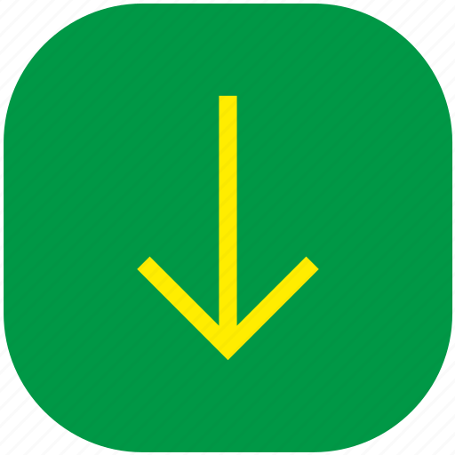 arrow, bottom, down, download icon
