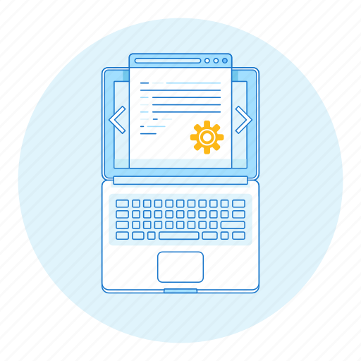 app, code, development, laptop, programming, web icon