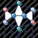 arrangement, chain network, connection, haxon structure, structure icon