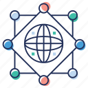 affiliate network, global connectivity, global network, globalization, international network icon