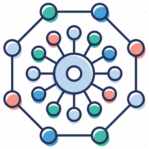 centralized connection, centralized network, centralized structure, connectivity, systemize structure icon