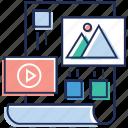 amendment, refine, video editing, video graphic, video montage icon