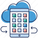 cloud computing, cloud data, cloud hosting, cloud technology, wireless technology icon