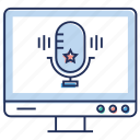 audio recording, mic, microphone, sound technology, voice recorder icon