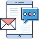 commercial message, email advertising, email marketing, marketing campaign, social media marketing icon