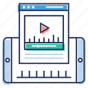 live streaming, media player, sharing website, video player, video website icon