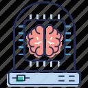 artificial intelligence, brain processor, computer interface brain, computerized brain, humanoid icon