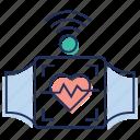 modern technology, smart bracelet, smartwatch, wifi connected watch, wrist watch icon