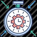 performance, seo service, time analysis, time optimization, web design icon