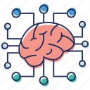 artificial brain, artificial intelligence, brain technology, intelligence, neural network icon