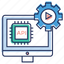 api, api coding, api interface, application program interface, programming development icon