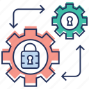 data governance, protection, risk management, security access, security management icon