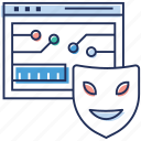 cybercriminal, hacker, hacktivist, phishing, ransomware icon