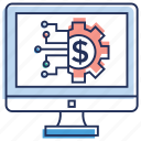 business management, finance management, money flow, money management, wealth management icon