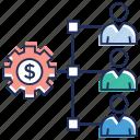 business stakeholder, capitalist, financial investor, shareholder, stockholder icon
