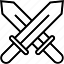 challenge, duel, fight, fighting, swords, versus, vs icon icon