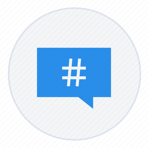 chat, communication, conversation, hashtag, message, talk, text icon