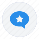 chat, conversation, favourite, message, messages, star icon
