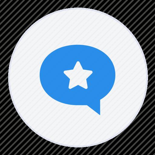 bubble, chat, conversation, favourite, message, messages, star icon