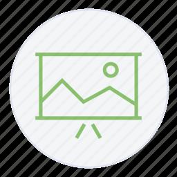 image, images, presentation, projector, report, slide, slideshow icon