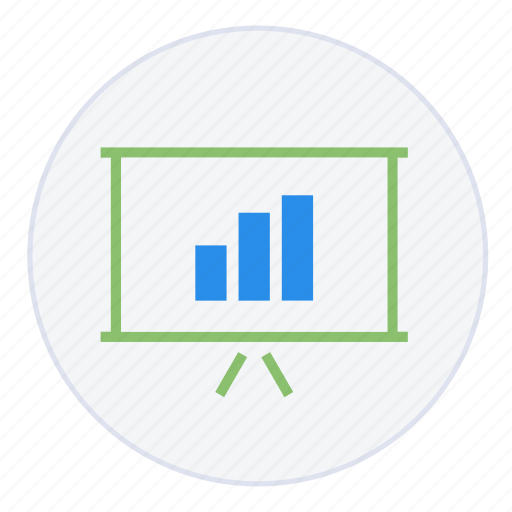 analysis, analytics, chart, increase, marketing, presentation, report icon