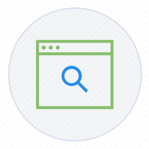broswer, explore, keywords, magnifier, search, search engine, searching icon