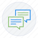 chat, conversation, help, messages, support, talk icon
