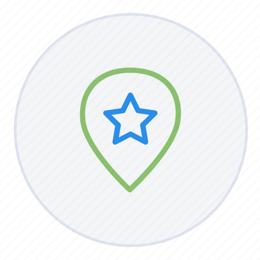 favourite, location, mark, navigation, pin, pinpoint, star icon