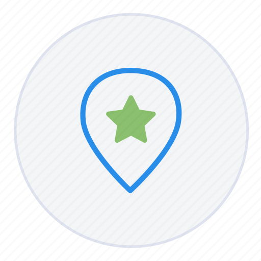 favourite, gps, location, pin, pinpoint, place, star icon