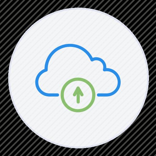 arrow, cloud, data, database, hosting, storage, up, upload icon